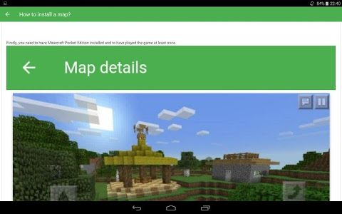 screenshot of Maps for Minecraft PE version 2.0