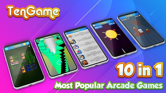 screenshot of 10 in 1 Game: Small Size Arcade Games version 0.1