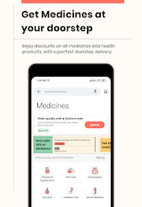 screenshot of 1mg - Online Medical Store & Healthcare App version 11.3.2