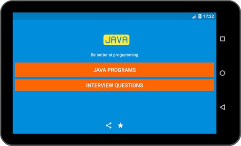 screenshot of 400+ Java Programs with Output version 1.0
