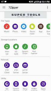 screenshot of 7Zipper - File Explorer version 3.10.28