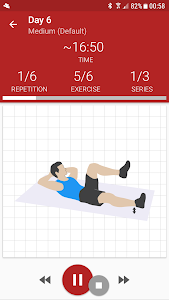 screenshot of Abs workout A6W - flat belly at home version 9.20.1