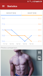 screenshot of Abs workout A6W - flat belly at home version 9.19.4
