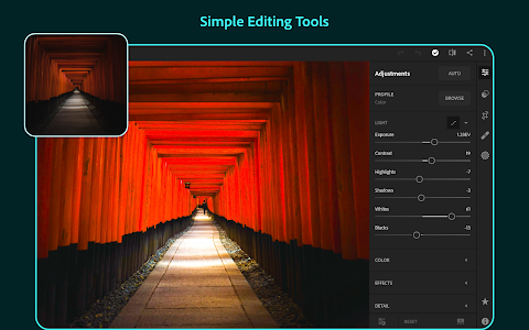screenshot of Adobe Lightroom - Photo Editor version 4.3.1