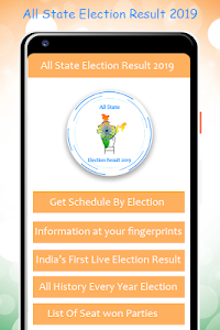 screenshot of All State Election Result 2019 version 1.2