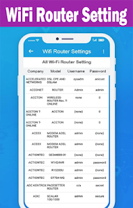 screenshot of All WiFi Router Setting : Admin Setup version 1.0