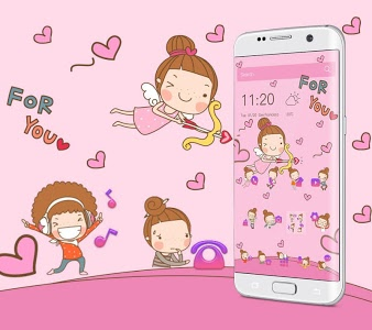 screenshot of Angel Cartoon Theme version 1.1.12