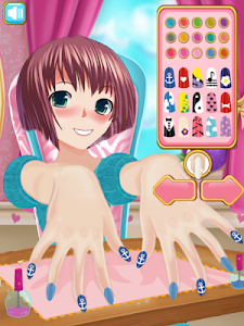 screenshot of Anime Girl Nail Salon Manicure \ud83d\udc85 Nail Polish Game version 1.0.6