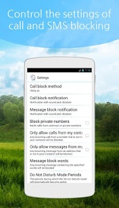 screenshot of Block calls&blacklist SMS spam version 0.9161