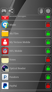 screenshot of App Lock (Scanner Simulator) version 4.5