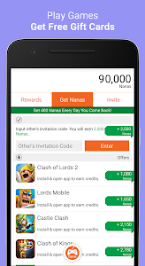 screenshot of AppNana - Free Gift Cards version 3.5.12