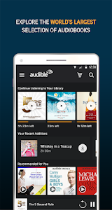 screenshot of Audiobooks from Audible version 2.36.0