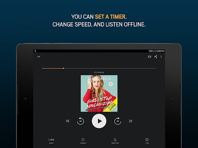 screenshot of Audiobooks from Audible version 2.38.0