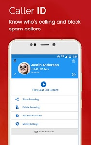 screenshot of Auto Call Recorder 2018 version 1.52