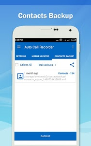 screenshot of Auto Call Recorder 2017 version 1.37