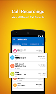 screenshot of Auto Call Recorder 2017 version 1.27