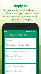 screenshot of Auto Reply for whats - AutoRespond Bot version 2.8