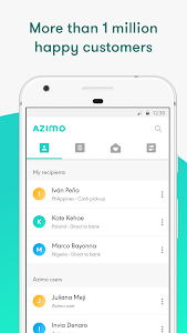 screenshot of Azimo Money Transfer version Varies with device