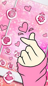screenshot of Bling Love Heart Launcher Theme Live HD Wallpapers version 1.0