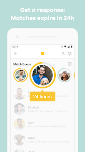 screenshot of Bumble — Date. Meet Friends. Network. version Varies with device
