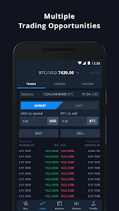 screenshot of CEX.IO Bitcoin Exchange version Varies with device