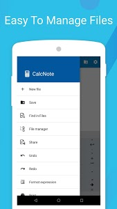 screenshot of CalcNote - Notepad Calculator version 2.19.52