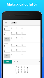 screenshot of Calculator N+ - Math Solver - CAS calculator version 3.4.1