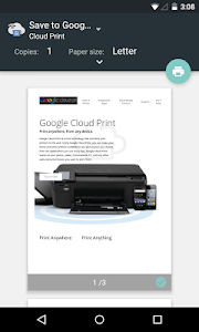 screenshot of Cloud Print version Varies with device