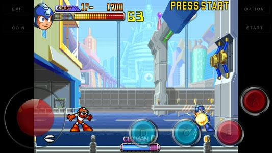screenshot of Code Mega Man 2 : The Power Fight version 1.23