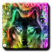Colorful Wolf Keyboard Theme