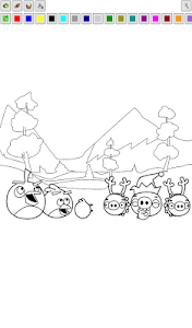 screenshot of Coloring Pages Angry Birds version 1.00