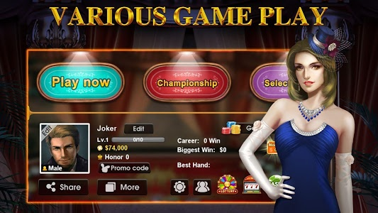screenshot of DH Texas Poker - Texas Hold'em version Varies with device