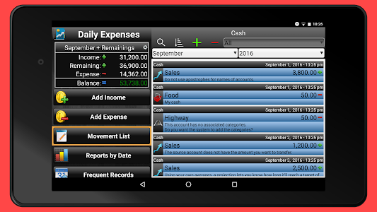 screenshot of Daily Expenses 2: Personal finance version 2.6.80
