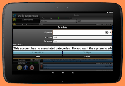 screenshot of Daily Expenses 2 version 2.6.71