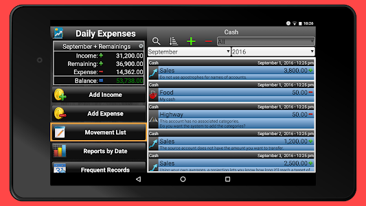 screenshot of Daily Expenses 2: Personal finance version 2.6.87