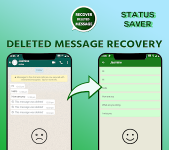 screenshot of Deleted messages whats : photo & video recovery version 4.5