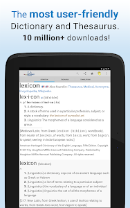screenshot of Dictionary version Varies with device