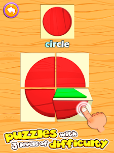 screenshot of Preschool learning games for kids: shapes & colors version 5.25