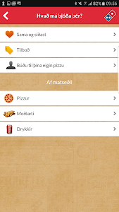 screenshot of Domino's Iceland version 4.4.3