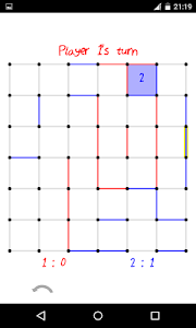screenshot of Dots and Boxes / Squares version 2.2.1