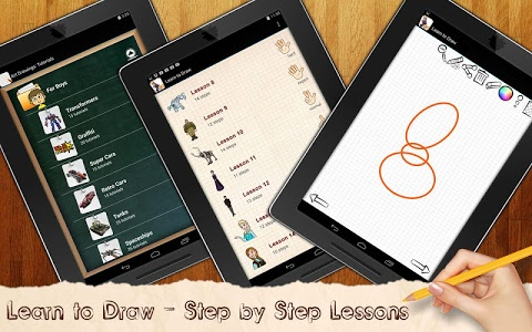 screenshot of Drawing Lessons Ollaf Frozen version 1.02