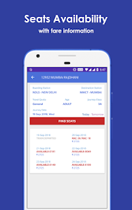 screenshot of Mobile IRCTC Ticket Booking Live Train PNR Status version 11.0.002
