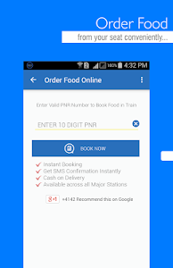 screenshot of IRCTC Mobile Ticket version 8.4