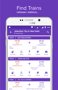 screenshot of Mobile Ticket Booking (IRCTC) version 10.0.06