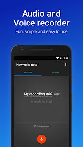 screenshot of Easy Voice Recorder version Varies with device