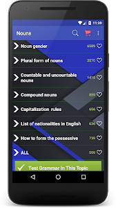 screenshot of English Grammar version 6.1.93