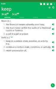screenshot of Dictionary : Word Definitions & Examples - Erudite version 9.24.0