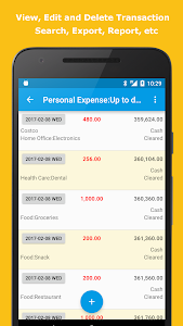 screenshot of Expense Manager version Varies with device