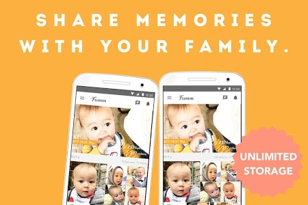 screenshot of Famm - photo & video storage for baby and kids. version 3.19.0