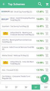 screenshot of Mutual Funds and SIP App (Finowlish) version 13.0